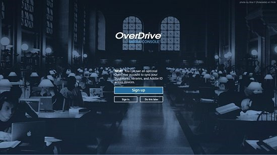 OverDrive Media console main screen