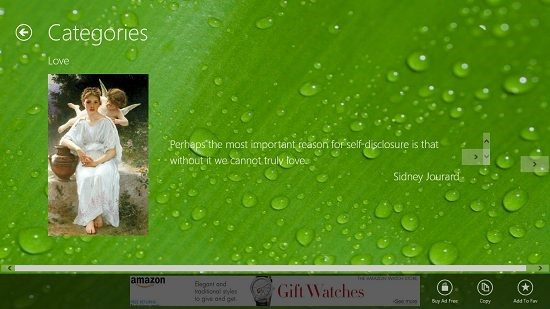 Quotes of Wisdom Quote interface