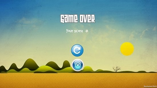 Bouncy monster Game over