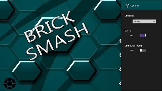 Brick Smash Options
