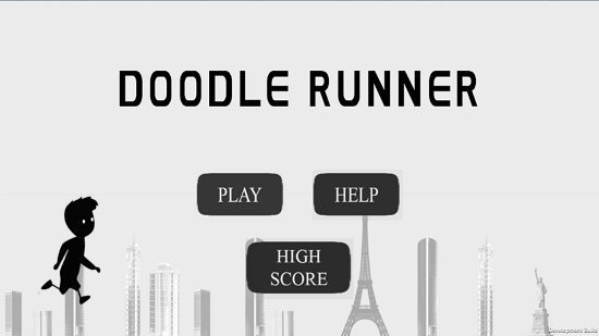 DoodleRunner Main screen