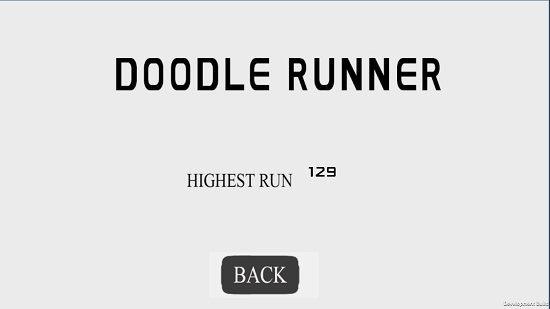 DoodleRunner high scores