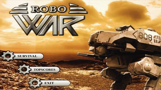 Robo War Main Screen