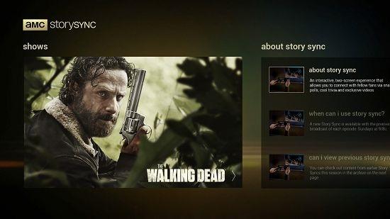 AMC Story Sync main screen