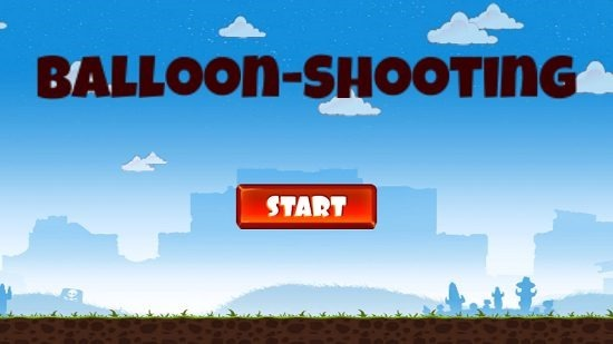 Balloon Shooting main screen