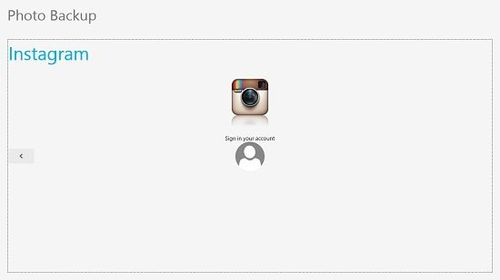 Photo Backup Instagram login