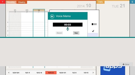 Schedule St. HD record voice memo