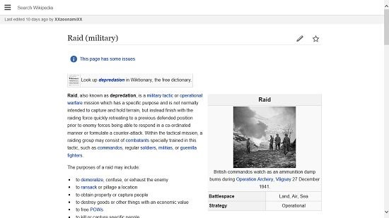 Wikipedia 8 Article View