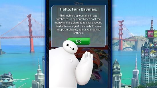 Big Hero 6 Bot Fight main screen
