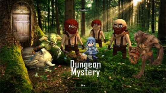 Dungeon Mystery Main screen