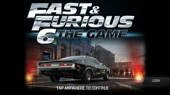 Fast & Furious 6 The Game main screen