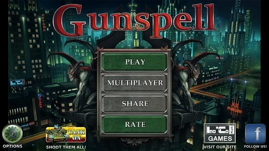 GunSpell main screen