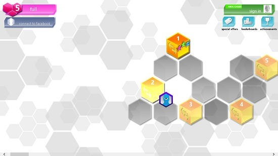 Hexic hex map