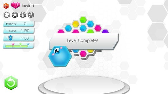Hexic level complete