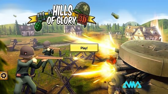 Hills Of Glory 3D main screen