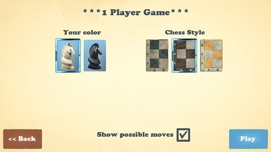 Chess Fusion select color and board style