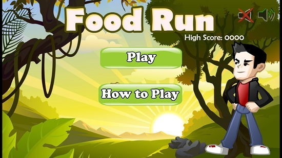 Food Run Main menu