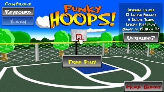 Funky Hoops! Main screen
