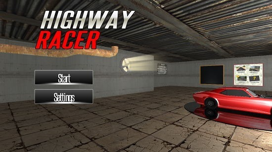 Highway Racer Main Screen