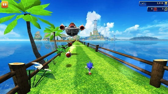 Sonic Dash boss battle attacks
