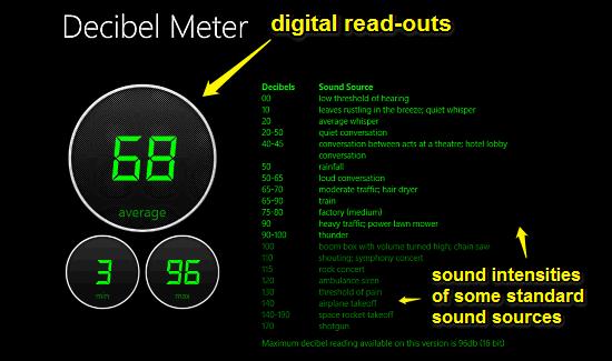 decibel meter main ui