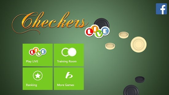 Checkers Live main menu