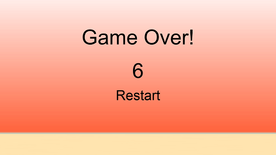 Fast Flappy Bird Game Over