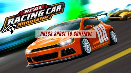 Real Racing Car Simulator Main Screen