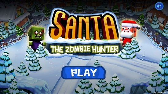 Santa The Zombie Hunter main menu