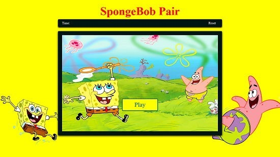 SpongeBob Pair Main Screen