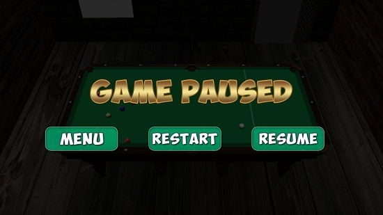 9 Ball Pool Game Paused