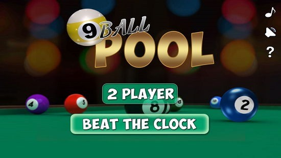 9 Ball Pool Main Screen