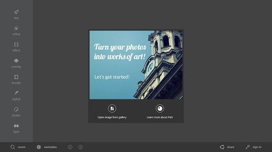Free Image Editor For Windows 8: Autodesk Pixlr
