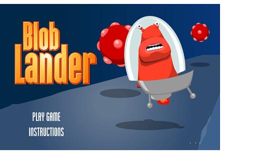 Blob Lander Main Screen