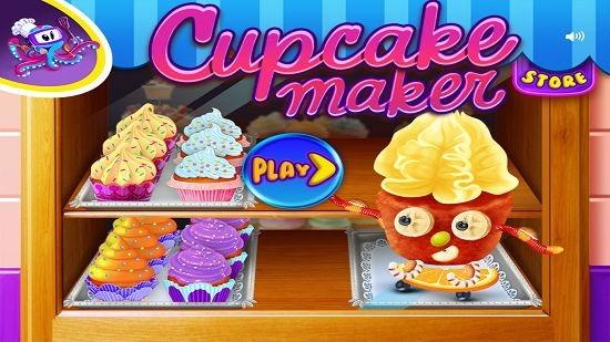 Cupcake Crazy Chef Main Screen