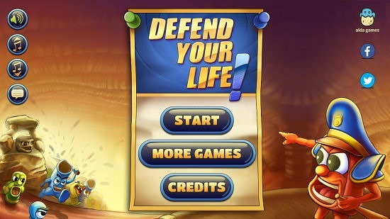Defend Your Life main screen