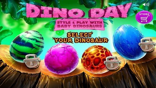 Dino Day Main Screen