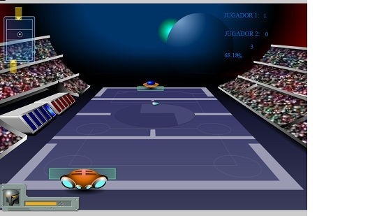 Galactic Tennis gameplay