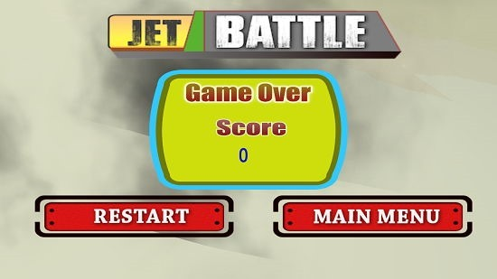 Jet Battle game over