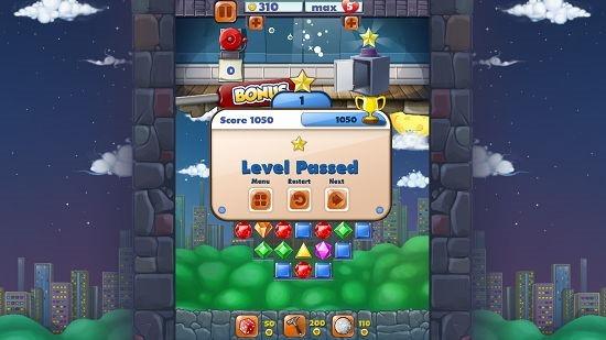 Jewel Blast level complete