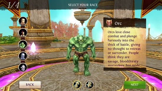 Order & Chaos Online select character