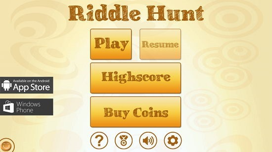 Riddle Hunt Main Screen