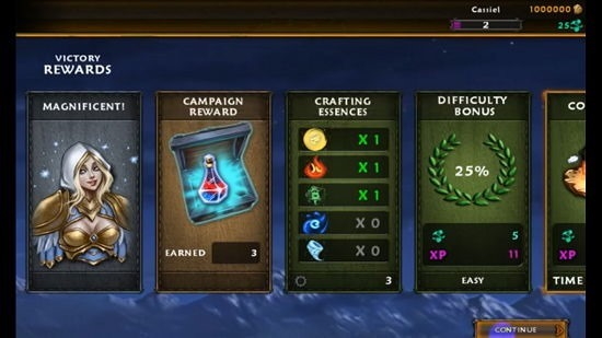 Soulcraft mission victory rewards