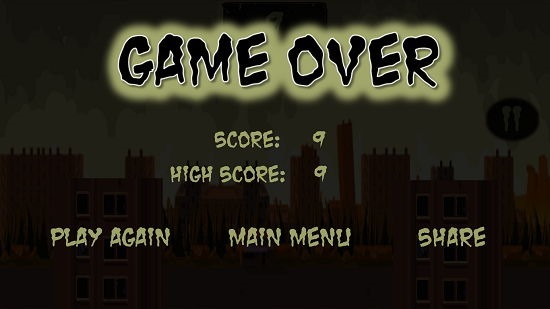 Zombie Pogo Game Over