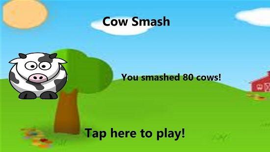 Cow Smash score