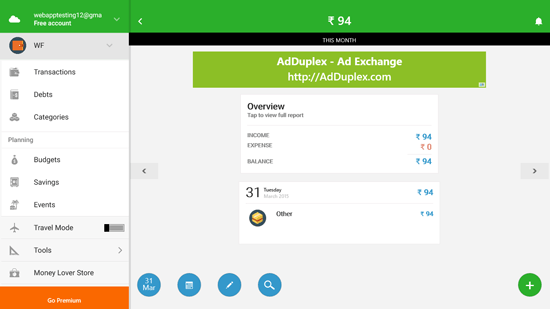 Expense Manager app