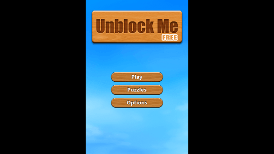 Unblock Me Main Menu