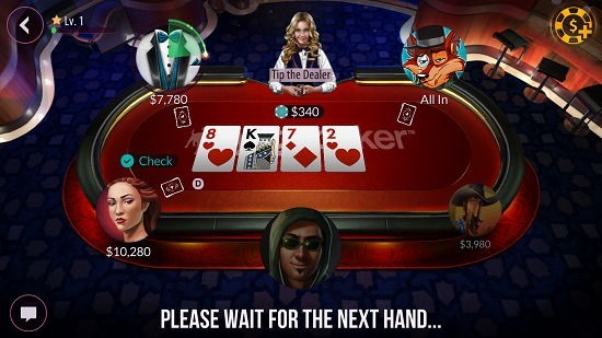 Zynga Poker - Texas Holdem gameplay