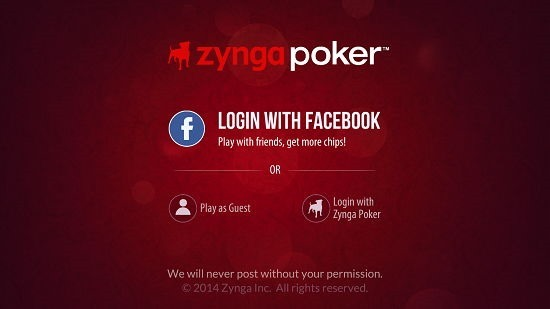 Zynga Poker - Texas Holdem main screen