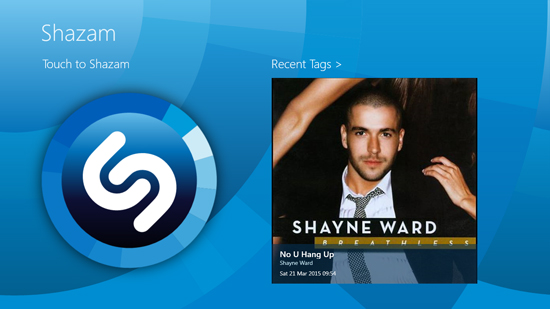 Shazam free app for Windows